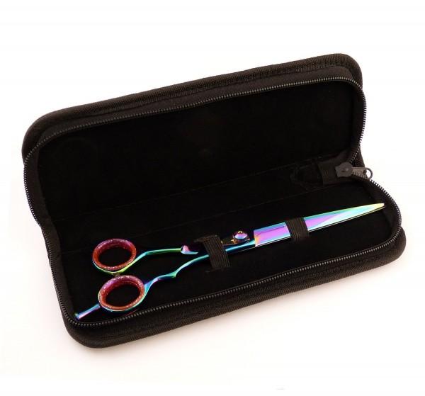 Verstellbare Hundehaarschere Fellschere Schere für Hunde 22 cm - Multicolor