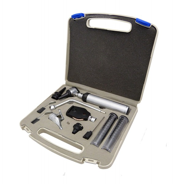 Hochwertiges HNO-Set Otoskop 11-teilig in Box
