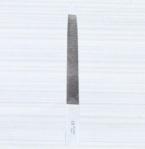 - Nagelfeile Feile aus Edelstahl - 15 cm Gesamtlänge, Riffeln geschlagen