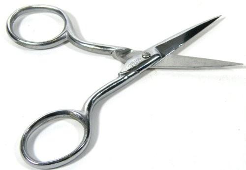 Nagelschere mit gerader, schmaler Spitze, 10 cm, BS Doppelkopf Made Germany