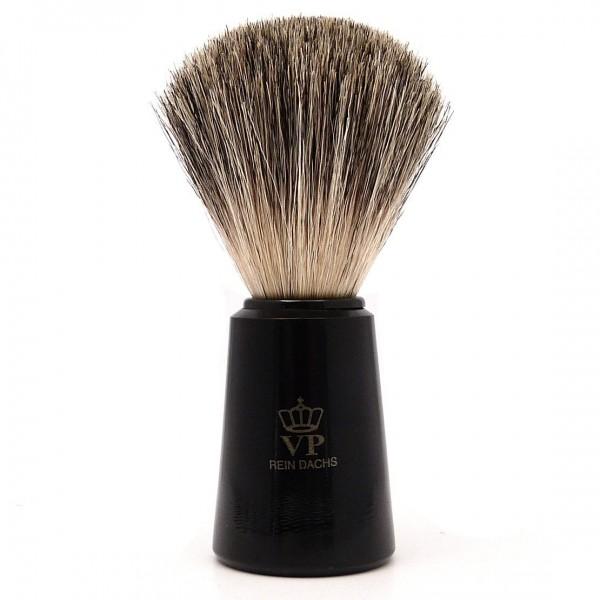 Rasierpinsel Royal VP - mit echtem, reinem Dachshaar - Griff schwarz