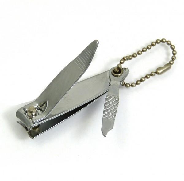 Mini Nagelknipser 5,5 cm lang / 9 mm breit, mit Nagelfeile