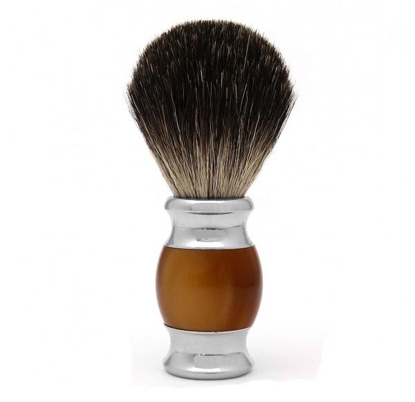 Rasierpinsel - reines Dachshaar - schwarze Spitze