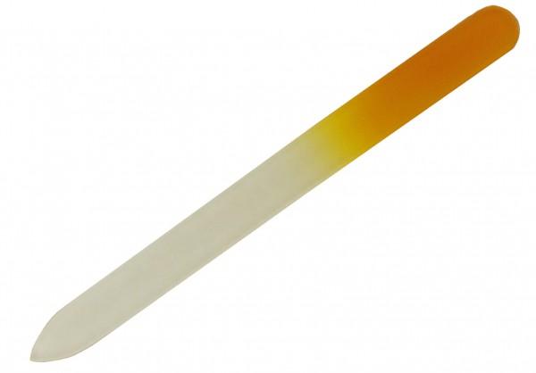 Glasnagelfeile spitz, sehr feine Körnung 14 cm lang orange