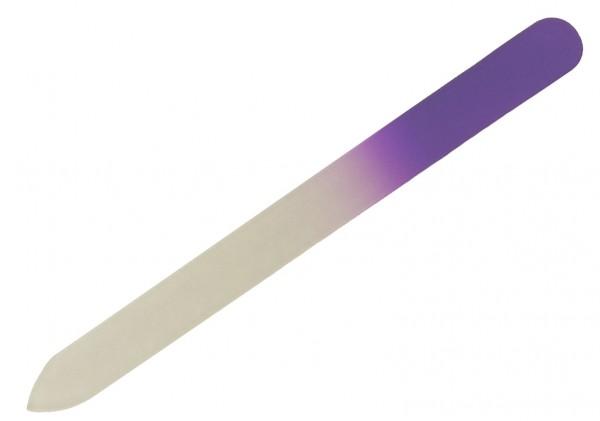 Glasnagelfeile spitz, sehr feine Körnung 14 cm lang violett