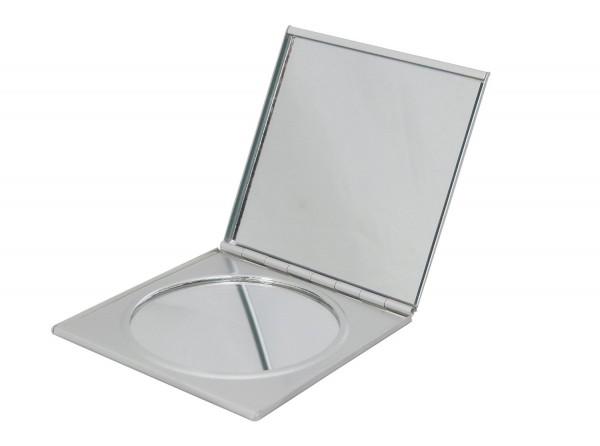 Taschenspiegel Kosmetik Lucia Beauty - viereckig 3fach Vergrößerung - gold oder silber