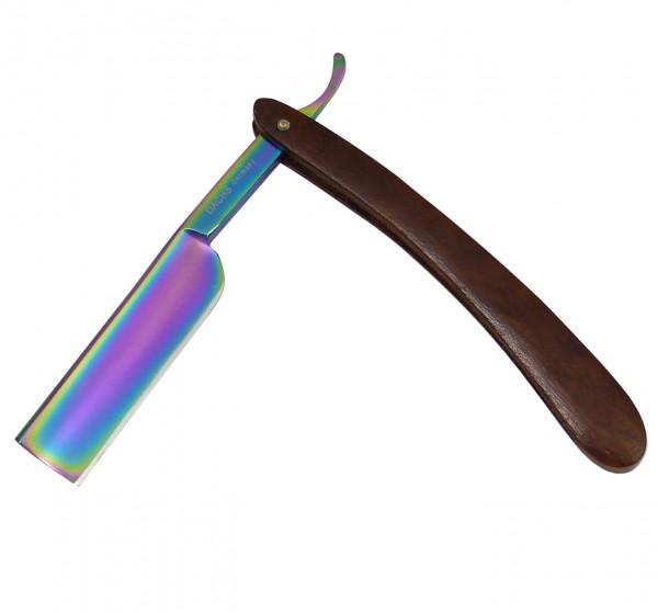 Rasiermesser Multicolor mit Gußstahlklinge und Holzgriff