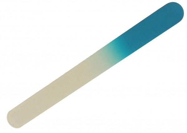 Glasnagelfeile Fußnagelfeile abgerundet 19,5 cm lang türkis