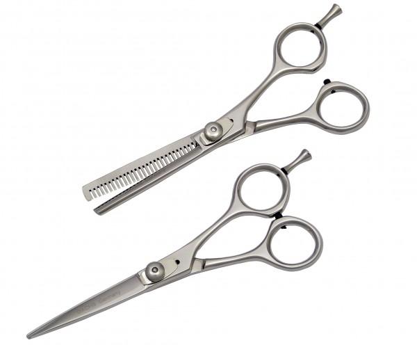 2-teiliges Friseur Set - kompakte Haarschere und Modellierschere 5,5 Zoll