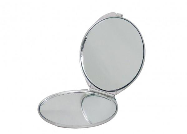 Taschenspiegel Kosmetik Lucia Beauty rund glänzend 3fach Vergrößerung - gold oder silber