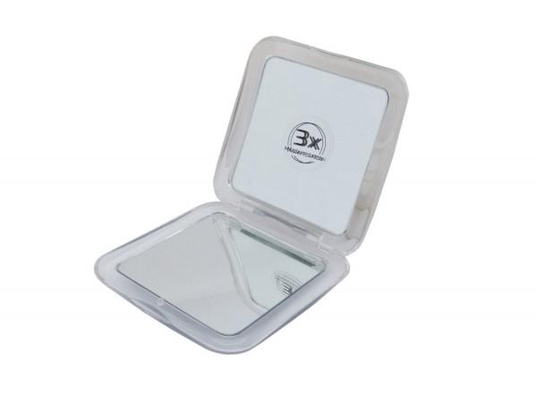 Taschenspiegel Kosmetik Lucia Beauty - viereckig einfach und dreifach Vergrößerung