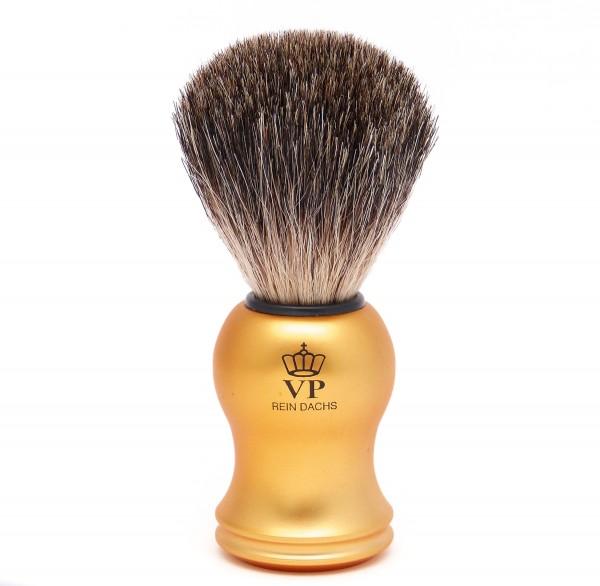 Rasierpinsel Royal VP - mit echtem, reinem Dachshaar - Griff gold