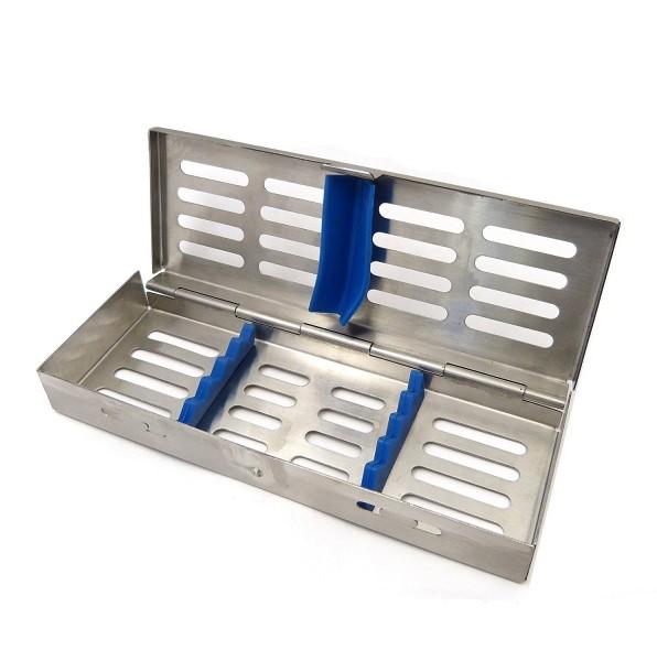 Instrumenten-Tray Containerkasette für 5 Instrumente 180 x 65 x 22 mm