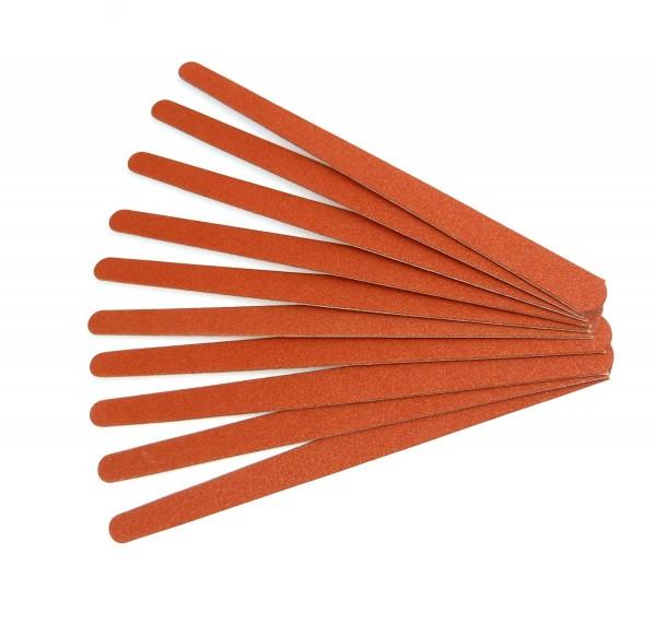 10 Stück Sandblattfeilen 17 cm doppelseitig fein und grob