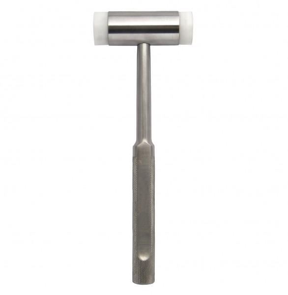 Hammer Metallhammer mit Kunststoff-Schlagflächen 22,5 cm - rostfrei und sterilisierbar