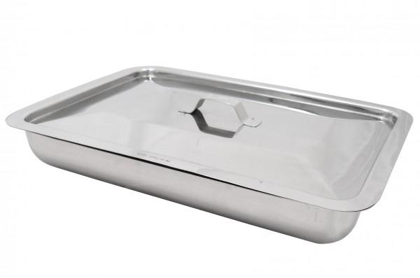 Instrumentenablage Tablett mit Deckel 32 cm rechteckig Edelstahl