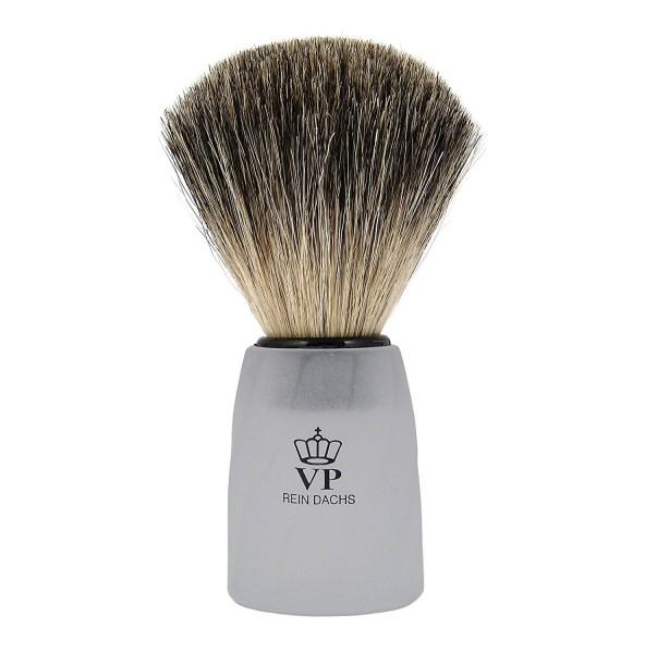 Rasierpinsel Royal VP - mit echtem, reinem Dachshaar - Griff weiß mattiert