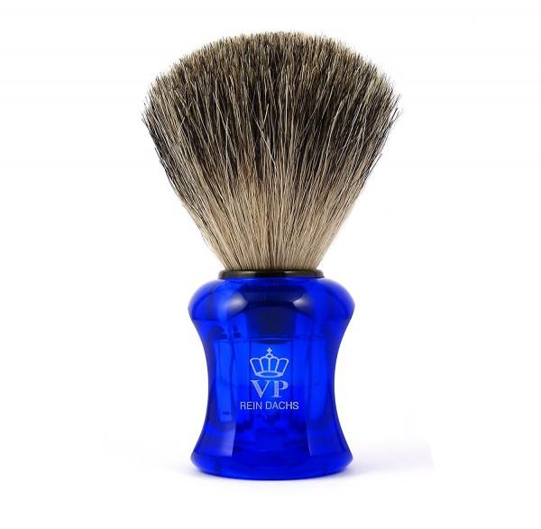 Rasierpinsel Royal VP - mit echtem, reinem Dachshaar - Griff blau