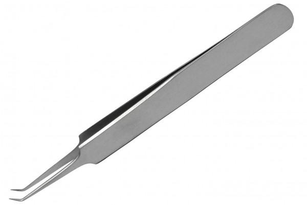 Juwelierpinzette schräg, abgewinkelte Spitze 4 mm lang
