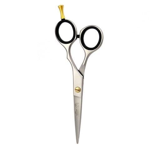 Profi Haarschere 5.5 Zoll mit Fingerhalter, satiniert