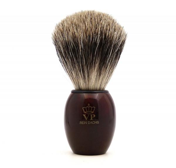 Rasierpinsel Royal VP Premium feinster Qualität mit Silberspitz Dachszupf - Kunstharzgriff schildpat