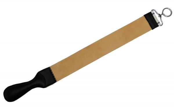 Abziehleder für die traditionelle Rasur mit Rasiermesser - Gesamtlänge: 57 cm