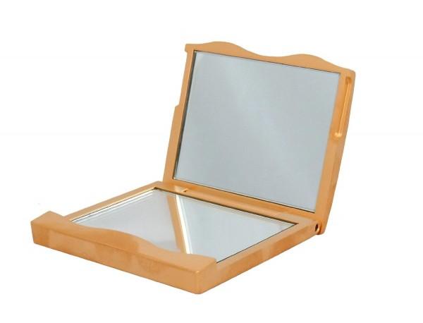 Taschenspiegel Kosmetik Lucia Beauty viereckig 3fach Vergrößerung - gold oder silber