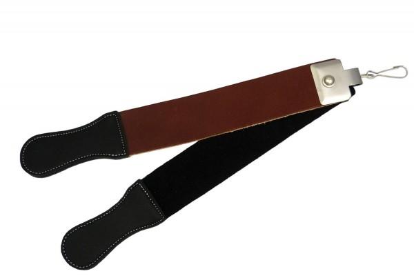 2-tlg. Streichriemen Abziehleder für Rasiermesser, 4 Oberflächen-Härten
