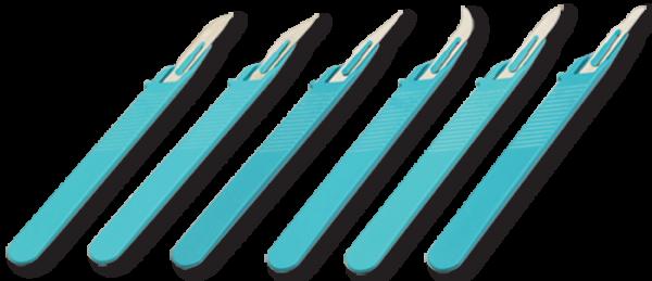 10 Stück Skalpell Messer Form 18 zum einmaligen Gebrauch