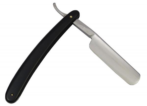 Einsteiger Rasiermesser mit Gußstahlklinge und Kunststoffgriff schwarz! Neu!