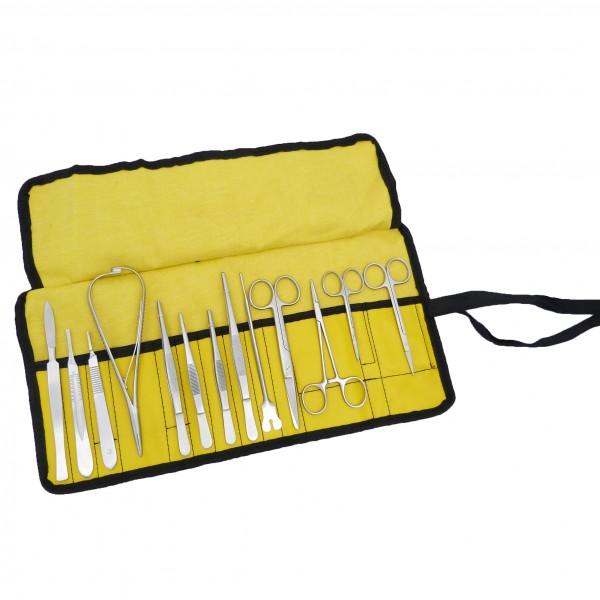 13-teiliges Chirurisches Sutur Set mit Pinzetten, Nadelhalter, Skalpellhalter