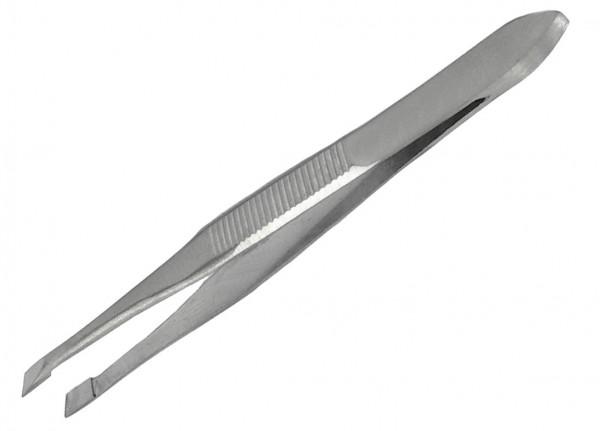 Qualitäts Cilienpinzette 8 cm - schräg - 3 mm breit - rostfrei