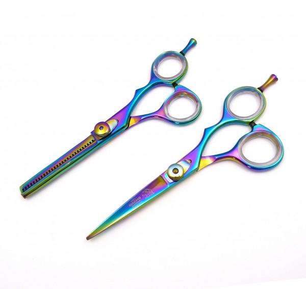 Profi Friseurset Haarscheren-Set: Haarschere und Modellierschere 5,5 Zoll mit edler Cobaltbeschichtu