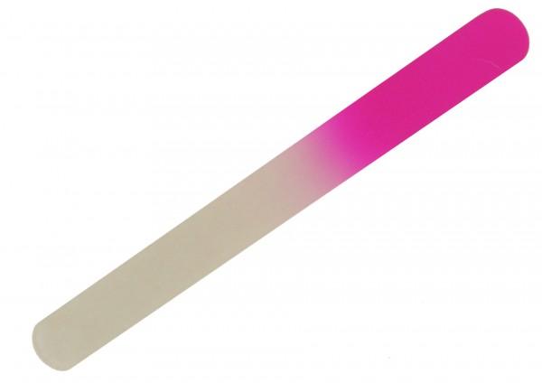 Glasnagelfeile Fußnagelfeile abgerundet 19,5 cm lang pink