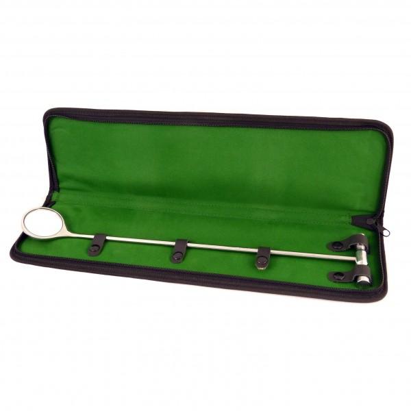 Dentalspiegel für Pferde - Durchmesser 50 mm - Gesamtlänge 42 cm