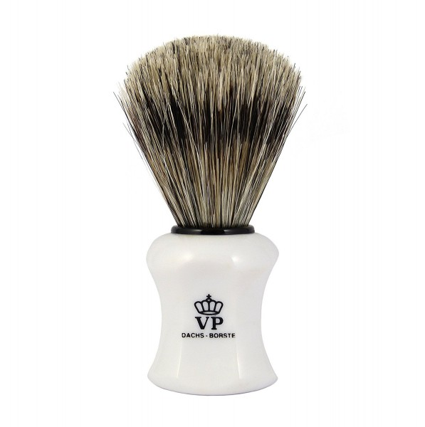 Rasierpinsel Royal VP - Dachsborste - Griff weiß