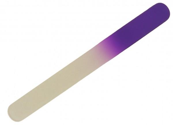 Glasnagelfeile Fußnagelfeile abgerundet 19 cm lang violett