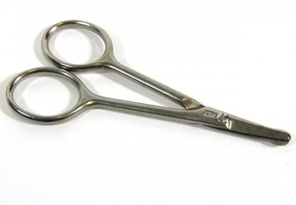 Geschmiedete Nasenhaarschere Babyschere - BS Doppelkopf - Made in Germany - 9,5 cm